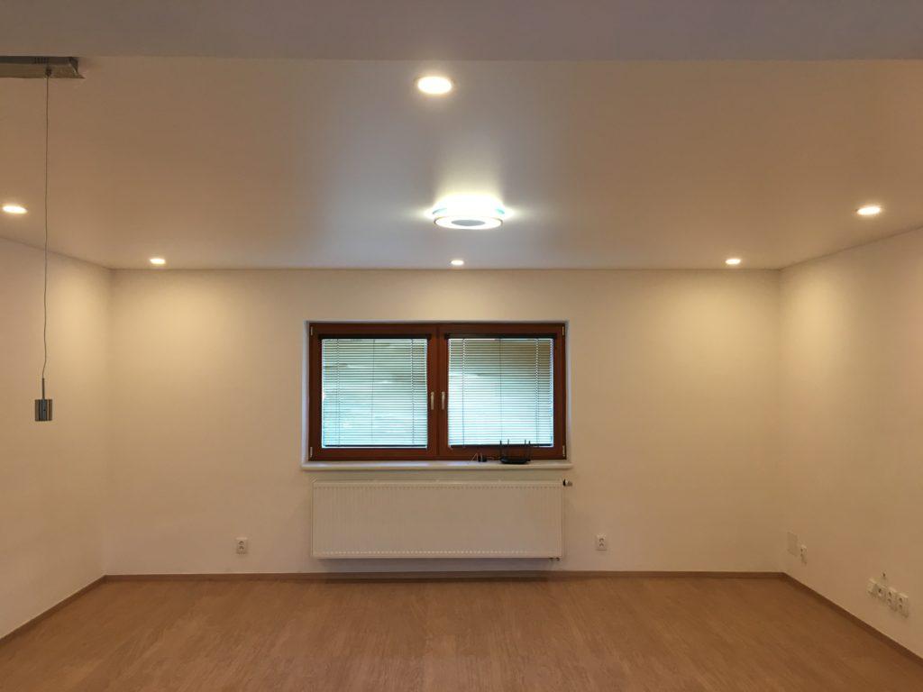 Instalace během částečné rekonstrukce obývacího pokoje